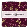 "Burgundy and Blush 5"" Squares by Maywood Studio"