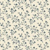 Windham Fabrics Abigail Blue Trailing Vines Cream