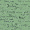 Clothworks Garden Notes Text Dark Mint