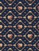 Wilmington Prints Bricolage Floral Trellis Navy