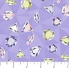 Northcott Facets Multicolor Gemstones Lavender
