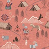 Lewis and Irene Fabrics Viking Adventure Viking Village Peach