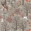 Lewis and Irene Fabrics Winter in Bluebell Wood Scenic Brown