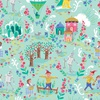 Riley Blake Designs Dorothy's Journey Scenic Mint Sparkle