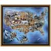 Quilting Treasures United States Animal Map Panel