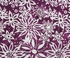 Northcott Banyan Batiks Boho Beach Flowers Light Grey/Berry