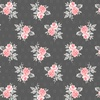 Windham Fabrics Colette Small Rose Bouquet Charcoal
