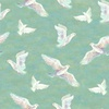 3 Wishes Fabric Spirit of Flight Doves Mint
