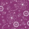 Maywood Studio Kimberbell Basics Doodles Violet Red