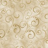 Benartex Swirling Splendor 108 Inch Backing Tan