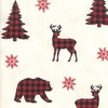 Moda Holiday Lodge Buffalo Plaid Forest Winter White