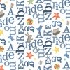 Clothworks Bike Ride Text White
