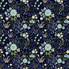In The Beginning Fabrics Garden Delights III Floral Medley Blue