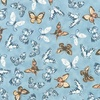 Robert Kaufman Fabrics Garden Studies Butterflies Dusty Blue