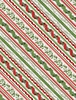 Wilmington Prints Woodland Friends Ticking Stripe Red