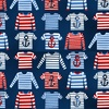 Studio E Fabrics A Whale Of A Time Striped Shirts Navy