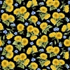 Henry Glass My Sunflower Garden Tossed Sunflowers Black/Multi