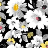 Quilting Treasures Nadine Packed Floral Black