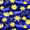 Benartex Moonlight Serenade Garden Blue/Yellow