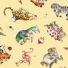 Riley Blake Hungry Animal Alphabet Animal Toss Yellow