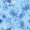 Henry Glass Blue Dream Large Floral Vine Medium Blue