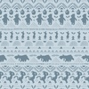 Camelot Fabrics Winnie the Pooh Wonder Whimsy Stripe Silhouette Light Blue