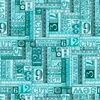 Quilting Treasures Tailor Made Numbers Patch Dark Aqua