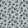 Windham Fabrics Abigail Blue Packed Floral Cream