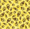 Elizabeth's Studio Adventures Of Bear And Friends Paw Prints Yellow