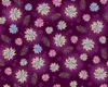 Quilting Treasures Enchanted Floral Tossed Plum