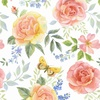 Henry Glass Garden Inspirations Tossed Large Roses Multi