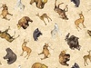Quilting Treasures Timberland Trail Tossed Animals Stone