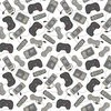 Windham Fabrics Man Cave Game Controllers White