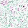 Clothworks Woodland Wander Greenery White