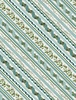 Wilmington Prints Woodland Friends Ticking Stripe Teal
