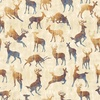 Quilting Treasures Timberland Trail Animal Silhouettes Oatmeal