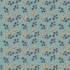 Camelot Fabrics Berry Blossoms Blueberries Teal