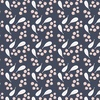 Camelot Fabrics Berry Blossoms Blueberries Indigo