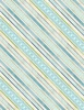Wilmington Prints Humming Along Diamond Stripe Tan/Blue