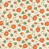 Moda Happy Fall Tossed Pumpkins Farmhouse White