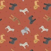 Lewis and Irene Fabrics Small Things World Animals African Earth