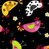 Andover Fabrics The Coop Chicken Dance Black