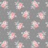 Windham Fabrics Colette Small Rose Bouquet Dark Grey