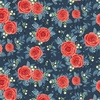 Penny Rose Fabrics Hedge Rose Large Floral Navy