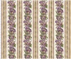 Maywood Studio Aubergine Elegant Border Stripe Ivory