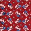 Moda America the Beautiful Flags and Stars Barnwood Red