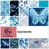 Social Butterfly Strip Roll by Benartex