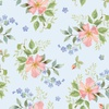 Henry Glass Garden Inspirations Tossed Small Roses Multi/Blue