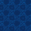 Benartex Social Butterfly Flower Scroll Navy
