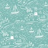 Lewis and Irene Fabrics From Old Harry Rocks Nautical Teal